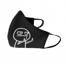 Fuck You Meme Face Mask Black