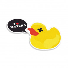 I Love Haters Duck