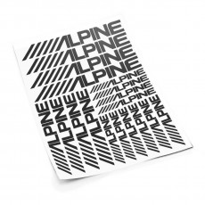 Alpine S sticker set