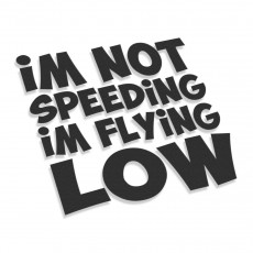 I'm Not Speeding I'm Flying Low