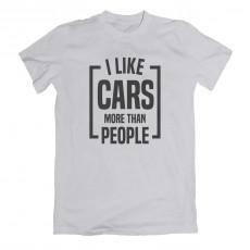 I Like Cars More Than People T-shirt Grey