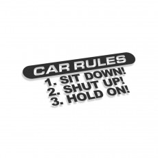 Car Rules Sit Down Shut Up Hold On