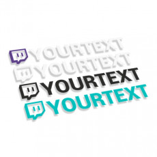 Twitch logo with text