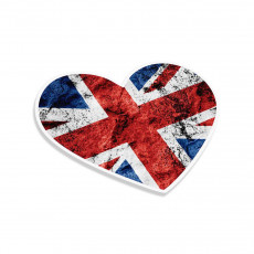 UK Flag Heart