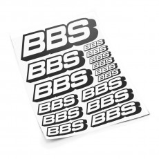 BBS S sticker set