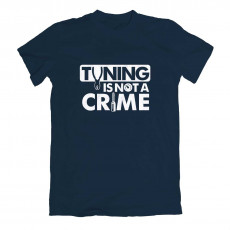 Tuning Is Not A Crime T-shirt Navy