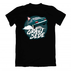 Grāvjsēde Green e36 T-shirt Black