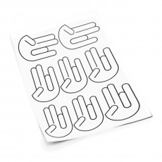 Shocker S sticker set
