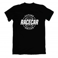 Future Racecar Driver T-shirt Black