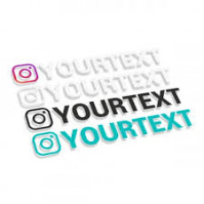 Instagram logo with text