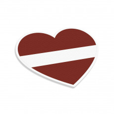 Latvia Flag Heart
