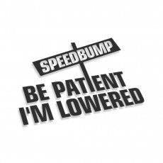 Be Patient I'm Lowered Speedbumps