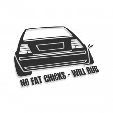 No Fat Chick Will Scrape Volkswagen Bora