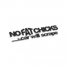 No Fat Chicks Car Will Scrape V2