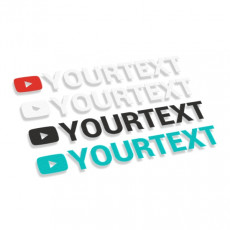 Youtube logo with text