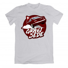 Grāvjsēde Red e36 T-shirt Grey