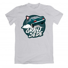 Grāvjsēde Green e36 T-shirt Grey