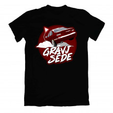 Grāvjsēde Red e36 T-shirt Black